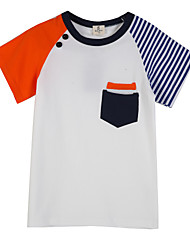 Boy's Cotton Tee,Summer Striped