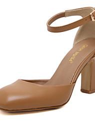 Women's Shoes Leatherette Chunky Heel Heels / Boat / Basic Pump / Comfort / Novelty Sandals / Heels / Fashion Sneakers /