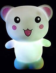 criativo colorido urso feliz que muda de cor levou luz noturna