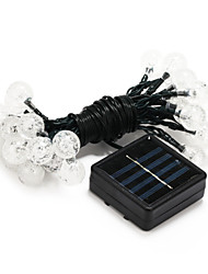 30-LED Solar Power Decoration White Light LED String Light