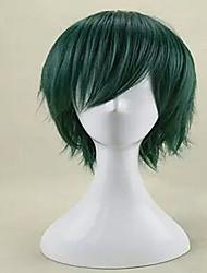 cosplay perruque de mode capless perruques de cheveux synthétiques vert courte ligne droite perruque cosplay et du parti de qualité