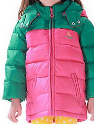 Largo y Acolchado Chica de-Invierno-Poliéster-Verde / Rosa / Amarillo