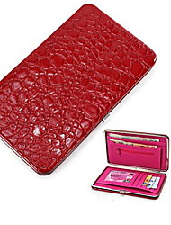 Crocodile Grain Women Long Wallets Leather Embossed Design Draw-out billetera Female Wallet Clutch Purses Carteira