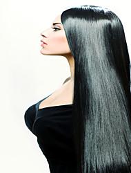 """3pcs / lot economici brasiliani di trama dei capelli vergini diritte pacchi dei capelli umani capelli lisci 8 """"-34"""" naturale nero"""