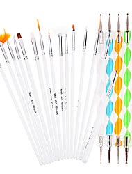 20 Pieces/Set Nail Art Dotting Tools (15 Pieces Manicure Brushes + 5 Pieces Dots Pen) Nail Art Pen