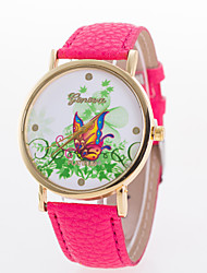The New European Style Fashion Grass Colorful Butterfly Casual Watch Cool Watches Unique Watches