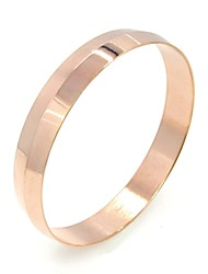 Round Cutting Stainless Steel Bangle Silver+Gold+Rose gold 3 pcs
