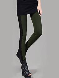 Hight Quality Women Stitching Lace Legging,Polyester Medium Crop jeans
