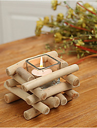 Creative Personality Handmade Wooden Candlesticks Candlestick Holder ome Decoration Gifts