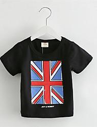 2016 Summer New Children'S Clothing Baby Boys And Girls Flag Children Short-Sleeved Round Neck T-Shirt