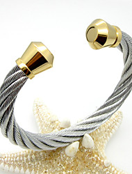 Gold Plated Stainless Steel Maserratula Rope Cuff Bangle Christmas Gifts