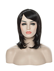 Capless Synthetic Wig Side Bang  Long Straight Lady's Fashion Sexy  Hair Wigs 2 Colors