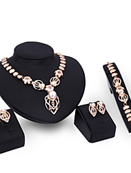 XIXI Women Fashion / Cute / Casual Gold Plated  Imitation Pearl Necklace / Earrings / Bracelet / Ring  Jewelry Sets