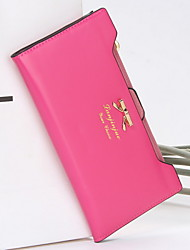 ZX  Solid Women Checkbook Wallet Card & ID Holder Clutch