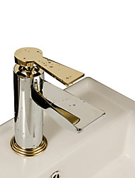 Deck Mounted Single Handle One Hole Brass in Chrome Bathroom Sink Faucet Basin Mixer Water Tap