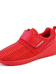 Men's Breathable Athletics Casual Fabric Fashion Sneakers Black / Red / White