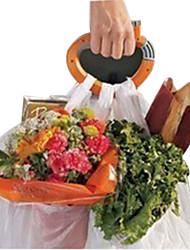 2 шт / пакет домой одна поездка ручки торговых продуктовых мешок держатель ручки несущей замок кухонного инструмента (случайные цвета)