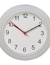 Круглый Модерн Настенные часы,Семья Пластик 25*25*4 cm (9.84*9.84*1.57 inch)
