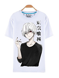 Inspiriert von Tokyo Ghoul Ken Kaneki Anime Cosplay Kostüme Cosplay-T-Shirt Druck Kurzarm Top T-shirt Für Mann