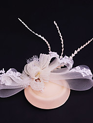 Women's Lace / Rhinestone/ Net Headpiece-Wedding / Special Occasion / Casual / Outdoor Fascinators 1 Piece