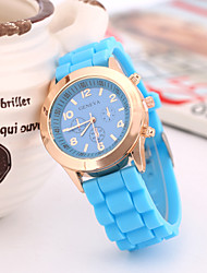 Women's European Style Fashion Hot Geneva Silicone Quartz Wrist Watch Cool Watches Unique Watches