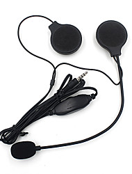 motorhelm stereo headset luidsprekers met mic microfoon mp3 / 4 iphone ipod