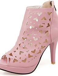 Women's Shoes Stiletto Heel/Platform/Bootie Sandals Party & Evening/Dress Black/Pink/White