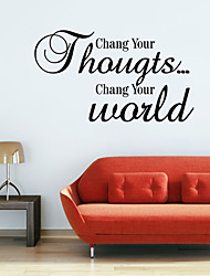 Chang Your World Romance Wall Stickers Quote Wall Decals