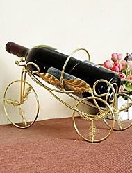 metais triciclo suporte para garrafa de vinho decorado fontes do casamento de aço inoxidável do presente do vinho de artesanato de metal