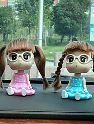 Little Lovely Girl Cartoon Car Decoration