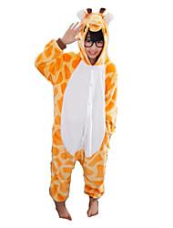 Kigurumi Pijamas Girafa Malha Collant/Pijama Macacão Festival/Celebração Pijamas Animal Amarelo Miscelânea Flanela Kigurumi Para Criança