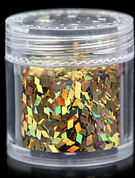 Lovely 12 Colors Sequin 10G Nail Jewelry