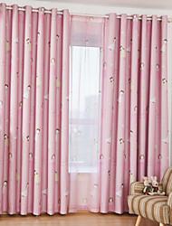 Deux Panneaux Le traitement de fenêtre Moderne chambre d'enfants Polyester Matériel Rideaux occultants rideaux Décoration d'intérieur For