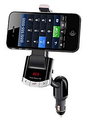 véhicule bluetooth ubs téléphone fm support mobile complète