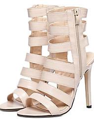 Women's Shoes Leatherette Stiletto Heel Heels Sandals Party & Evening Almond