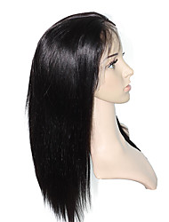 непереработанные полные парики шнурка длинные шелковые прямые человеческие волосы парики шнурка знаменитости парики 10 '' - 26 '' фронта