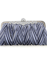 Women Chiffon /Satin Minaudiere Shoulder Bag / Clutch / Evening Bag-White / Purple / Brown / Red / Silver / Black