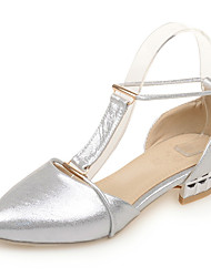Women's Shoes Low Heel Comfort / Pointed Toe Sandals Wedding / Party & Evening / Dress Blue / Silver / Gold