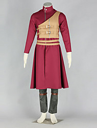 Inspired by Naruto Gaara Anime Cosplay Costumes Cosplay Suits Patchwork Red Long Sleeve Coat / Vest / Pants / Belt