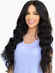 Half Machine Made Half Tied Made Body Wave Lace Front Wig Virgin 22inch Human Hair Glueless Lace Front Free Part Wig