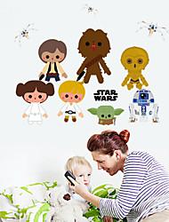 Wall Stickers Wall Decals, Cute Cartoon Star Wars PVC Wall Sticker