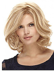 Middle Length Hair European Weave Light Blonde Hair Wig