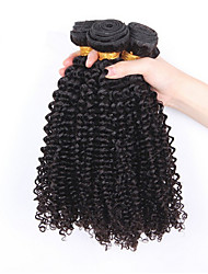3Pcs/lot 12''-30''Brazilian Virgin Hair Natural Black Color Kinky Curly Human Hair Weaves