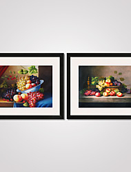 Framed Still Life Fruits Canvas Print Art Set of 2 for Home Decoration Ready To Hang