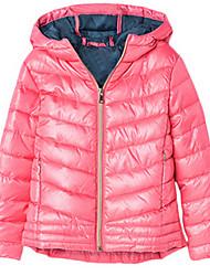 Mädchen Jacke & Mantel-Polyester Winter Schwarz / Rosa