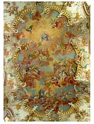 Artistico Carta da parati Contemporaneo Rivestimento pareti,TessutoThis is a whole mural wallpaper. It needs to be glued. For example: