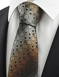 Krawatte(Grau / Braun,Polyester)Punkte