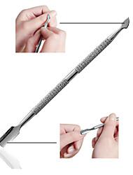 ferramenta de manicure do aço inoxidável contusão dupla pele e empurrar empurrar garfo mortos mortos