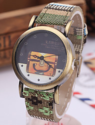 Women's Fashion Watch Quartz Fabric Band Vintage Bohemian Multi-Colored Brand