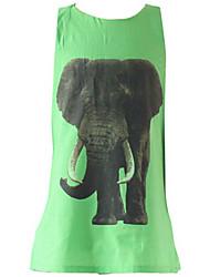 Vestido Chica de-Verano / Primavera-Algodón-Verde